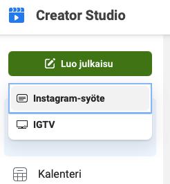 Creator Studio julkaisun luominen